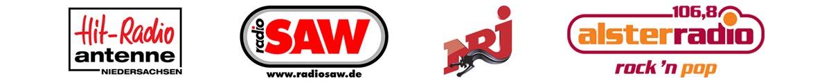 Logos Referenzen, Hit Radio Antenne, Radio SAW, NRJ, Alsterradio