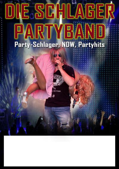Poster mit Sänger und Sängerin plus Publikum