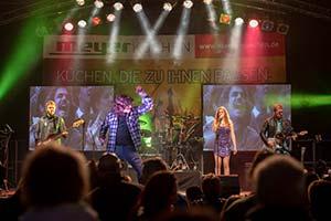 Sänger als Wolfgang Petry bei einerm Stadtfest in Schleswig Holstein